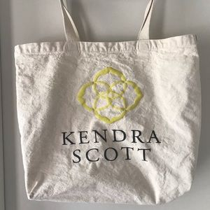 Kendra Scott Branded Canvas Tote Bag